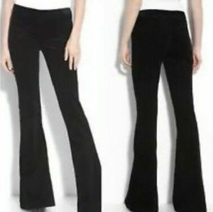 Theory black casual pants wide leg